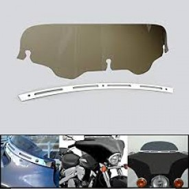 """Factory Products Dark Smoked 4"""" FLHT BAGGER Windshield"""
