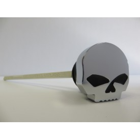 Factory Products, Skull Oil Tank Dipstick, FLHT/FLT.