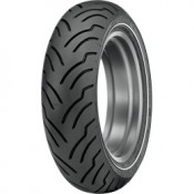DUNLOP MT/90-B16 74H  AMERICAN ELITE NARROW WHITE WALL REAR TIRE, 0306-0423