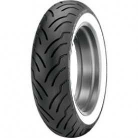 DUNLOP MT 90/B16 AMERICAN ELITE WIDE WHITE WALL REAR TIRE