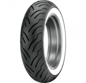 MT 90/B16 DUNLOP AMERICAN ELITE WIDE WHITE WALL REAR TIRE