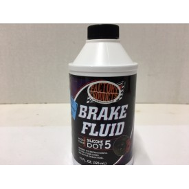 SILICONE BASED  DOT 5 BRAKE FLUID,   12 OZ.