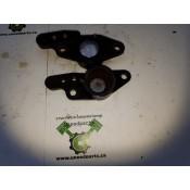 USED -  03 - 08 FL Swing Arm bushing end caps (pair) - OEM 50588-03/50589-03 - ID 1158