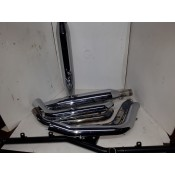USED - 2000 - 2006 Softail Exhaust System FXST,FXSTC,FXSTB - OEM 65413-00/65912-00 - ID 1209