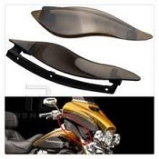 BLACK ADJUSTABLE FAIRING AIR DEFLECTORS, 13-129J