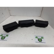 USED - 97-13 FLH Windshield triple pouch - weathered -  ID 1454