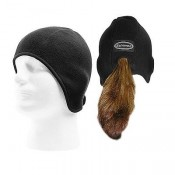 Schampa Pony Tail Skull Cap, Black