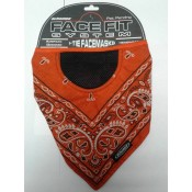 Schampa I-Tie Orange w/ Black Paisley