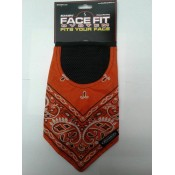 Schampa Orange w/ White Paisley Face Fit Velcro Mask