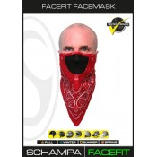 Face Fit Hook & Loop System – Red w/ Paisley