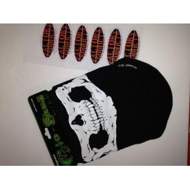 Schampa Half-Face Stretch Mask Glow Skull