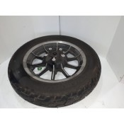 USED - 84-99 FLHR Rear wheel with Dunlop 402 rubber - 16 Spoke -  OEM 43402-87A - ID 1574