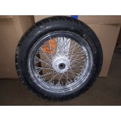 "USED - 84-99 FLH 60 Spoke Rear Wheel 3.5X16"" 3/4"" tappered bearing - ID 1684"
