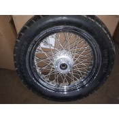 "USED - 84-99 FLH 60 Spoke Front  Wheel 3.5X16"" 3/4"" tappered bearing - Single disc - ID 1685"