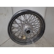 "USED - 84-99 FLH 60 Spoke Front  rim - 3.5X16"" 3/4"" tappered bearing - Single disc - ID 1685"