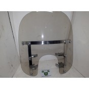 "USED - Quick Detach Windshield - Softail? - 23"" x 18 1/2"" - 49mm Clamps, 9 1/2"" centre to centre of clamps - ID 1708"
