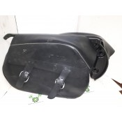 NEW - 98-03 XL Saddlebags - Leather with all hardware - OEM 90303-98/90304-98 - ID 1735