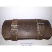NEW OPEN BOX - Old School Brown Leather Windshield Pouch - OE HD - ID 1770