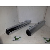 NEW OPEN BOX - 2014 Later XL Street Cannon Muffler - Chrome - OEM 64900331/64900328 - ID 1777
