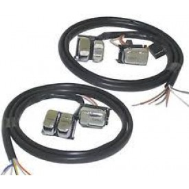 HANDLE BAR WIRING HARNESS WITH CHROME SWITCHES