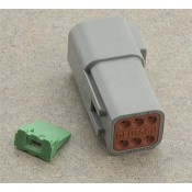 Deutsch Gray OEM Six Pin Receptacle