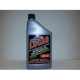 Lucas, Motorcycle Oil, 50WT. Six Pack.