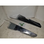 USED - 96-2008 Touring fork  air deflectors - chrome - set - ID 2288