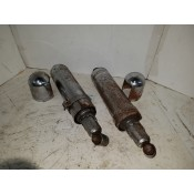 USED - 1980 FLT Shovel - Chrome shocks with caps - rusted - pair - OEM 54532-79 - ID 2333