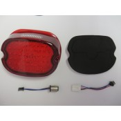 Up Facing LED Thin Low Profile Tail Lights With RED Lenses,
