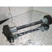USED - 2002-08 FLH Rear swingarm pivot shaft with bushings - OEM 47505-02 - ID 2809