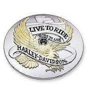GENUINE HARLEY-DAVIDSON - Live To Ride Gold Air Cleaner Trim OEM 29328-99