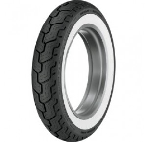 MT/90-B16 74H DUNLOP HD SERIES REAR WIDE WHITE WALL TIRE