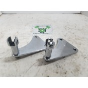 USED - passenger footpeg mounting brackets - chrome - ID 3067