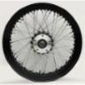 WHEEL, 16 X 3.5, 60 SPOKE,  REAR, BLACK RIM AND HUB, CHROME SPOKES