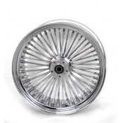 16 X 3.5 48 FAT SPOKE WHEEL, CHROME, DUAL DISC