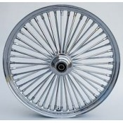 21 X 3.5 FAT 48 SPOKE CHROME ON CHROME DUAL DISC FRONT WHEEL