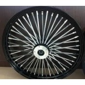 FACTORY PRODUCTS 21 X 3.5 DUAL DISC FAT 48 SPOKE BLACK & CHROME