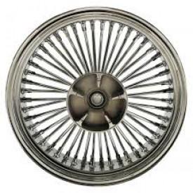 18 X 5.5 REAR WHEEL CHROME ON CHROME WITH CUSH DRIVE  37-580