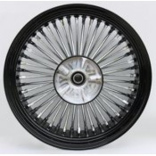 KING SPOKE BLACK/CHROME, 18x5.5 RR, CUSH DRIVE  37-581
