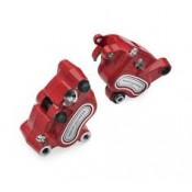 HARLEY DAVIDSON BRAKE CALIPER KIT -RED FRONT AN REAR  08-17 DYNA 08-14 SOFTAIL 41300127