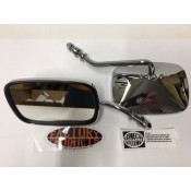 FIXED ARM, RECTANGULAR CHROME MIRRORS