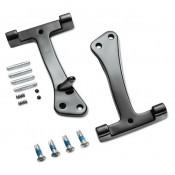 Harley-Davidson® Passenger Footboard Support Kit - Black, Fits '06-'17 Dyna, 49349-07