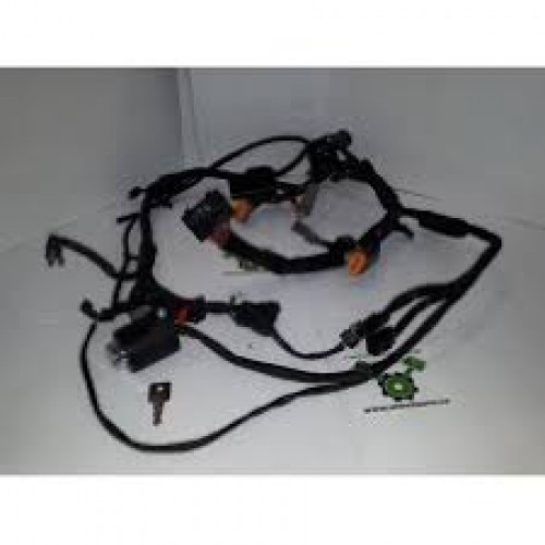 used - 1998 sportster wiring harness with ignition and keys - oem 70153-98