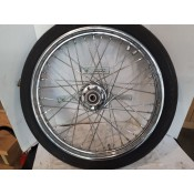 "USED - 21"" X 2.15"" Laced Wheel with older Dunlop rubber - ID 0703"