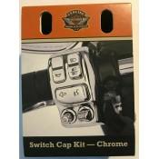 NEW - GENUINE HARLEY DAVIDSON CHROME SWITCH CAP KIT OEM 71500228A