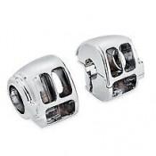 GENUINE HARLEY DAVIDSON Chrome Switch Housing Kit OEM 71826-11 - NEW