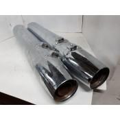 USED - Slip On Mufflers - FL Tappered End (pair) OEM 65846-07