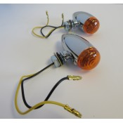 Factory Products, Smooth Amber Single LED Bullet Light - Sold as Pair