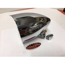 "5 3/4"" CHROME HEADLIGHT WITH POINTED VISOR"