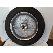 "USED - 2005 FLH Laced front wheel - 1"" bearing- Metzler rubber 5/32"""